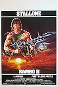 Rambo First Blood 2 Poster 35x50cm Belgium FN original