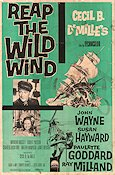 Reap the Wild Wind Poster 68x102cm USA PR-GD original