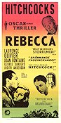 Rebecca 1940 poster Laurence Olivier Alfred Hitchcock