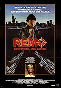 Remo Unarmed and Dangerous 1985 poster Fred Ward