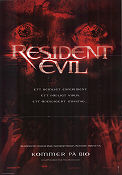 Resident Evil 2002 poster Milla Jovovich Paul WS Anderson
