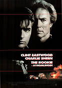 The Rookie 1990 poster Charlie Sheen Clint Eastwood
