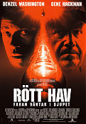 Rött hav 1995 poster Denzel Washington Tony Scott