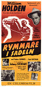 Rymmare i sadeln 1952 poster William Holden William Dieterle