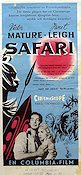Safari 1956 poster Victor Mature