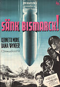 Sänk Bismarck! 1960 poster Kenneth More Lewis Gilbert