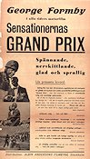 Sensationernas Grand Prix 1935 poster George Formby