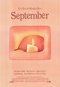 September 1987 poster Mia Farrow Woody Allen