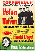 Skolans skräck 1940 poster Laurel and Hardy