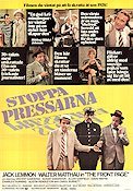 Stoppa pressarna 1969 poster Jack Lemmon Billy Wilder