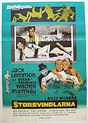Storsvindlarna 1967 poster Jack Lemmon Billy Wilder