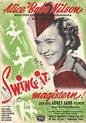 Swing it magistern 1940 Filmaffisch Alice Babs Schamyl Bauman