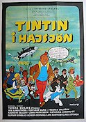 Tintin i Hajsj�n Poster 70x100cm GD-FN small piece missing original