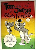 Tom och Jerrys glada festival 1962 poster Tom and Jerry