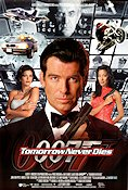 Tomorrow Never Dies 1997 poster Pierce Brosnan Roger Spottiswoode