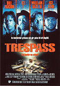 Trespass 1992 poster Bill Paxton Walter Hill