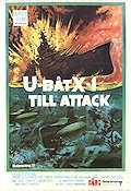 Ubåt X-1 till attack 1969 poster James Caan