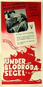 Under blodröda segel 1946 poster Paul Henreid
