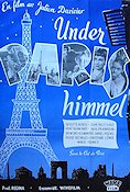 Under Paris himmel 1951 poster Julien Duvivier