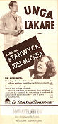 Unga läkare 1937 poster Barbara Stanwyck Alfred Santell