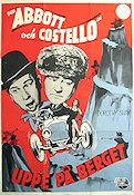 Uppe på berget 1952 poster Abbott and Costello