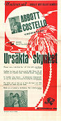 Ursäkta skynket 1942 poster Abbott and Costello Erle C Kenton