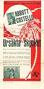 Ursäkta skynket 1943 poster Abbott and Costello