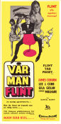 Vår man Flint 1966 poster James Coburn