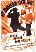 Vi dansar och ler 1949 poster Betty Grable