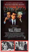 Wall Street 1987 poster Michael Douglas Oliver Stone