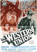 Western Union 1941 poster Robert Young Fritz Lang