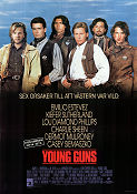 Young Guns 1988 poster Charlie Sheen