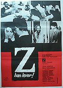 Z 1970 poster Yves Montand Costa-Gavras
