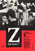 Z han lever 1970 poster Yves Montand Costa-Gavras