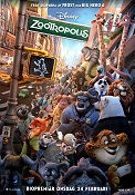 Zootropolis 2016 poster Ginnifer Goodwin Byron Howard